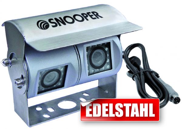 Rückfahrkamera mit zwei getrennten Kameramodulen für Moni-/Naviceiver/Monitore mit Video- und AV-Ein