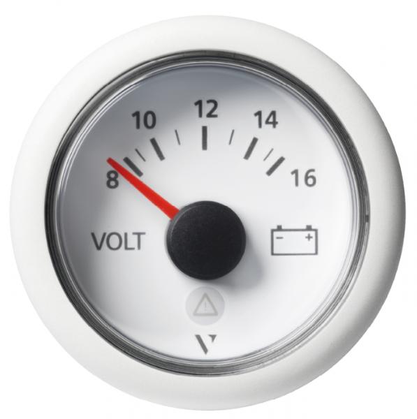 Voltmeter 8 - 16V (8 - 16 VDC) weiß
