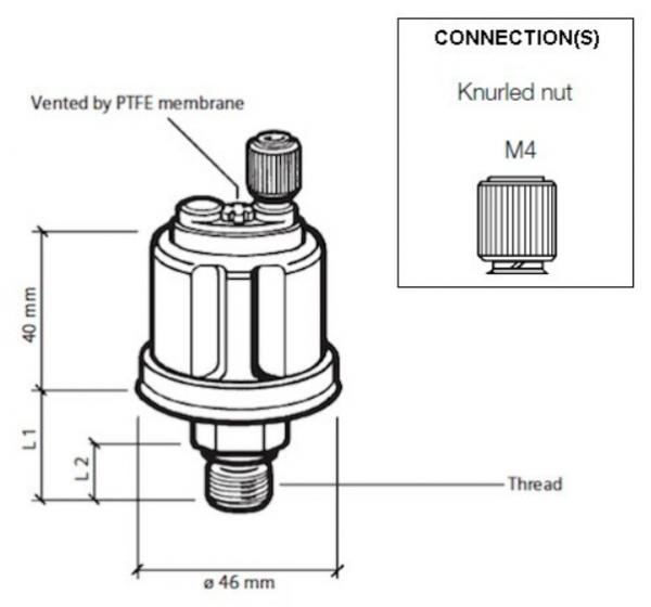 5 bar / 80 psi (M14 x 1,5) Einpolig, gemeinsame Masse