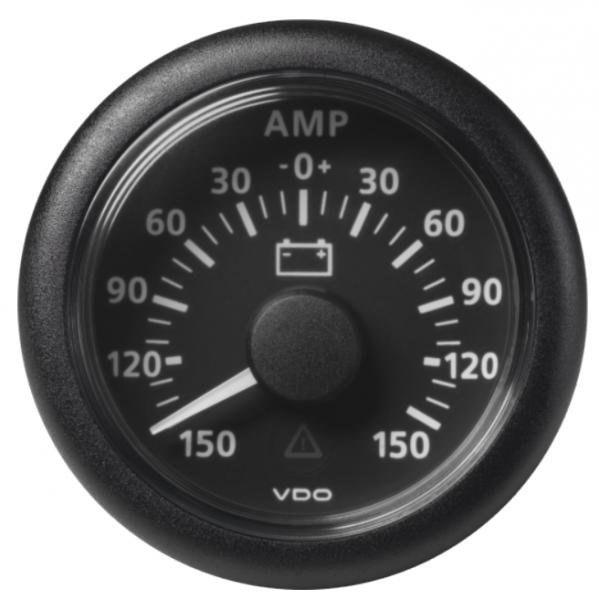 Amperemeter - 150 / + 150 A schwarz (60 mV)