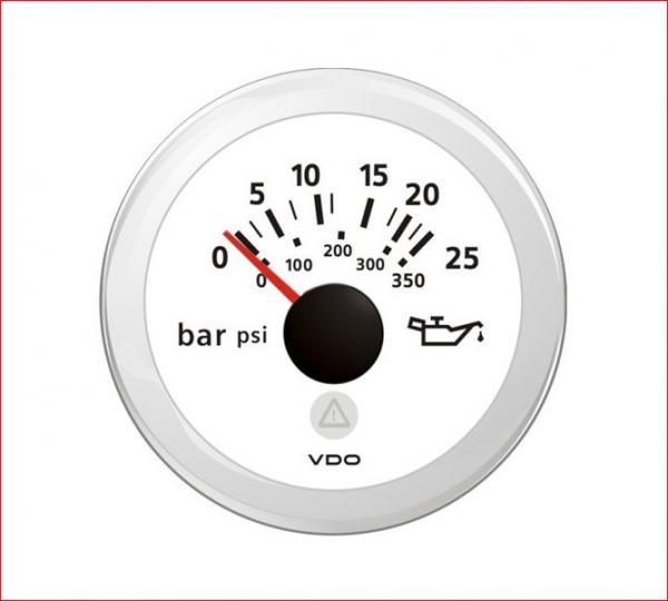 VDO ViewLine Motor Öldruck 25Bar Weiß 52mm