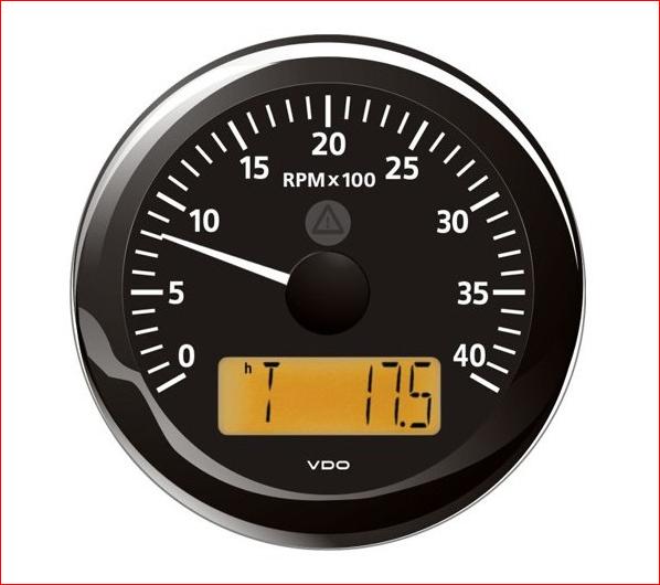 VDO ViewLine Drehzahlmesser 4.000 RPM Schwarz 85mm