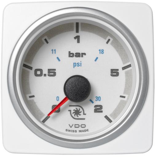 Ladedruck 2 bar / 30 psi weiß