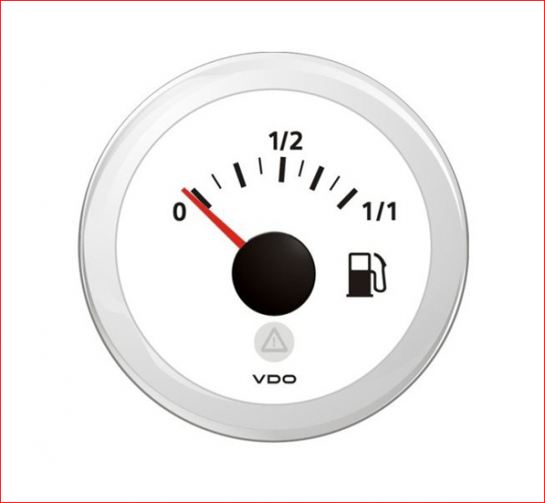 VDO ViewLine Kraftstoffvorrat 90-0.5 Ohm* Weiß 52mm