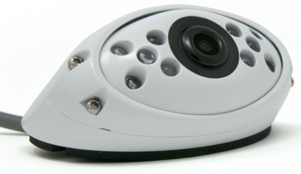 120° Rückfahrkamera kompakt weiss 24V