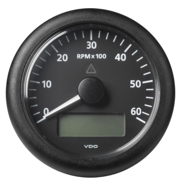 Drehzahlmesser mit LCD 6000 RPM schwarz