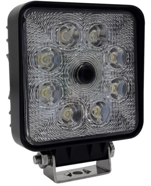 REAR ANGEL VIEW ™ RAV-S Arbeitskamera 9-40V mit Flutstrahler 9-48V, 700TVL, 140°, schwarz, PAL