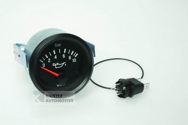 VDO Cockpit International 24 Volt Öldruckanzeiger Manometer 10 bar, Ø 52 mm