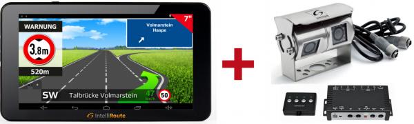 IntelliRoute CA8020DVR Navi + Doppel-Kamera 12V/24V für mobile Navigationssysteme
