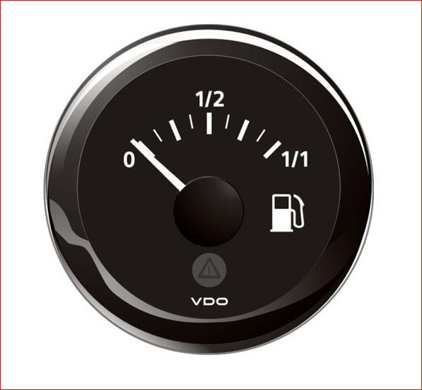 VDO ViewLine Kraftstoffvorrat 90-0.5 Ohm* Schwarz 52mm, Tauchrohrgeber