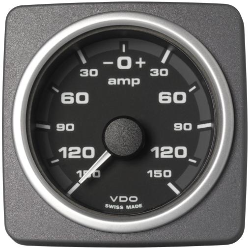 Amperemeter - 150 / + 150 A schwarz