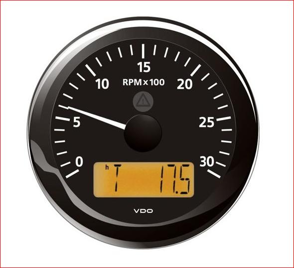 VDO ViewLine Drehzahlmesser schwarz 3.000 RPM 85mm