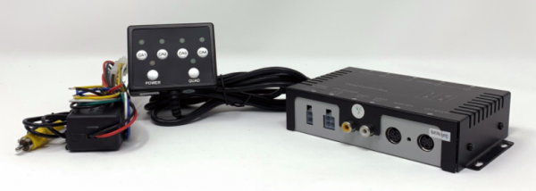 Umschaltbox für 4 Kameras mit Tastenfeld 12V/24V