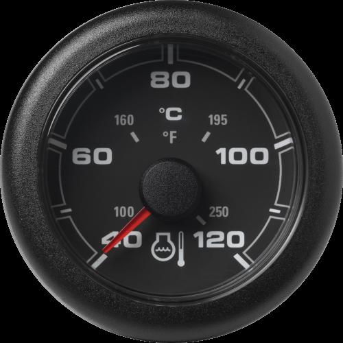 Kühlwassertemperatur 120 °C / 250 °F schwarz