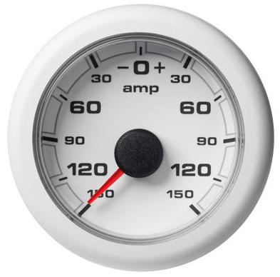 Amperemeter - 150 / + 150 A weiß