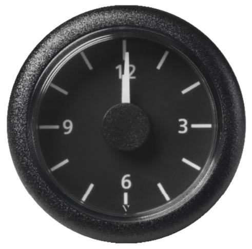 Uhr schwarz (8 - 16V)