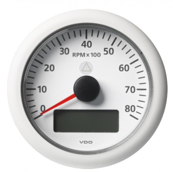 Drehzahlmesser mit LCD 8000 RPM weiß